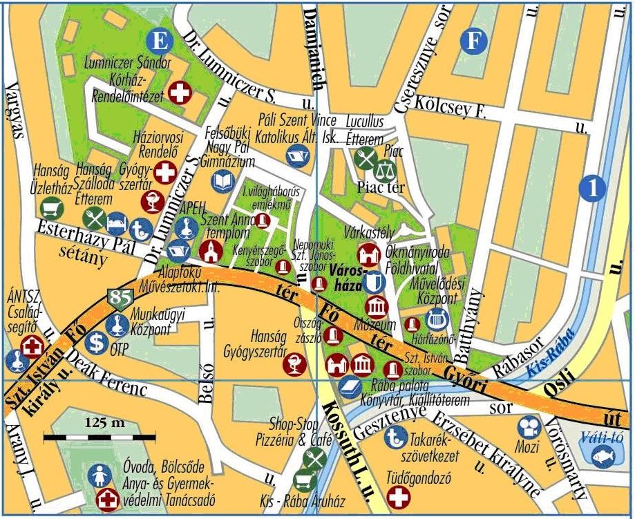 kapuvár térkép Térképek