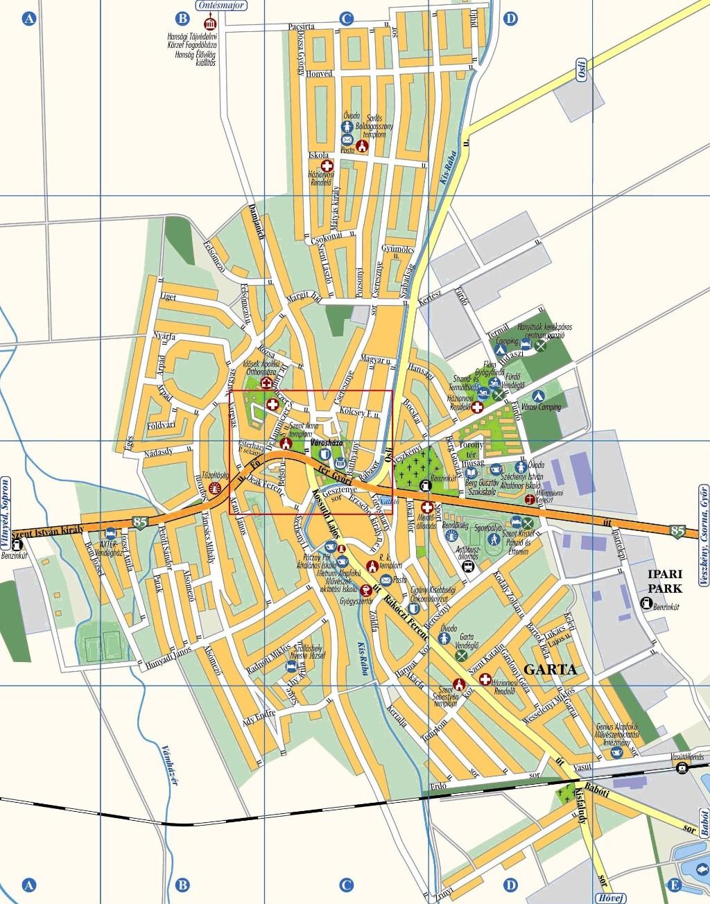 kapuvár térkép Kapuvár